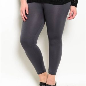 *Pre-order* Plus Size charcoal leggings